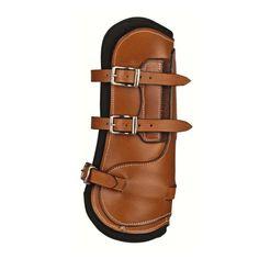 HKM csatos bőr ínvédő Róma Technikai paraméterek:  - rezgés-, és ütés elvezető  - kiválóan védi a ló lábait, inait  - puha, kellemes neoprén béleléssel, mely kényelmes a ló számára  - anatómiailag formált  - magas minőségű bőrből  - megtartja eredeti alakját  - jól illeszkedik a ló lábára   Tisztítása a bőr felszereléseknek megfelelően nyeregszappannal és bőrápolóval (bőrzsír, méhviasz, bőrkrém). A belső részt nedves, nem túl durva szálú kefével tisztítsuk.