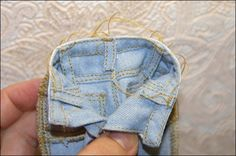 Mimin Dolls: calça jeans- tutorial