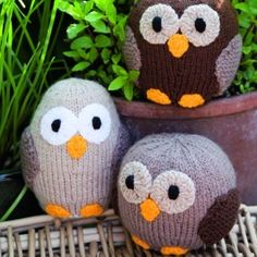 Owl+Family+-+Knitting+Pattern