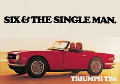 Triumph TR6 'The Single Man' Classic Car Picture Poster Print A1 Stag, & Herald