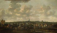 De uittocht van de Spaanse bezetting van Breda,10 oktober 1637.Het vertrek van de Spaanse troepen uit Breda,10 oktober 1637.Van links naar rechts trekt een lange stoet van soldaten, ruiters en wagens.Langs de kant van de weg staan toeschouwers.In de verte het profiel van de stad Breda. 1647-83.panel.94.5х162 cm  Rijksmuseum Amsterdam.