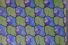 Tekening in de stijl van M.C. Escher