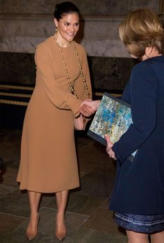 Crown Princess Victoria of Sweden attends 'The Bernadotte dynasty and music' concert celebrating the 200th anniversary of the House of Bernadotte's reign at The Hall of State (Rikssalen) in Stockholm Royal Palace on 12 April 2017 in Stockholm, Sweden.