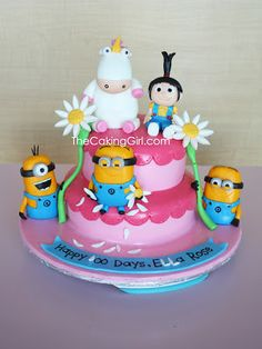 Despicable Me Cake! by TheCakingGirl.com