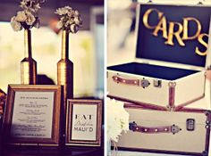 Suitcase for cards http://www.prettymyparty.com/dreamy-destination-wedding/