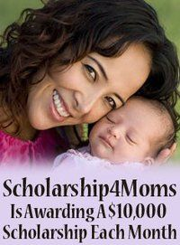 $10,000 scholarship available to US women 31 years or older. One award every month!
