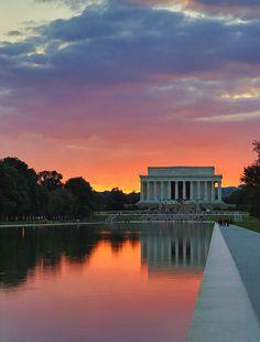 ✯ Washington DC Night We experienced this beautiful sunset too!