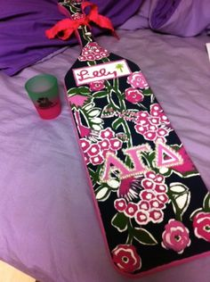 Great Alpha Gamma Delta Lilly paddle