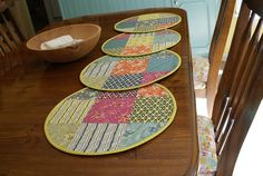 Quilted Placemats 2 by Sing All You Want, via Flickr