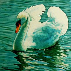 Margaret Horvat's a little daily painting: Stratford Swan II Alpha
