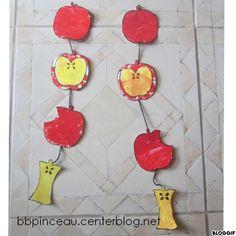 guirlande de pommes