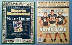 Notre Dame Football 2006 Lot of 2 Sports Illustrated Magazine Special Issues New #NotreDameFightingIrish