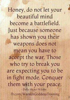Spread peace.