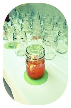 Watermelon Mojito Cocktails in Mason Jars served at Baby Shower