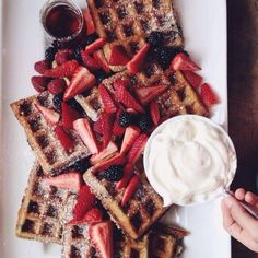 Straberry waffles