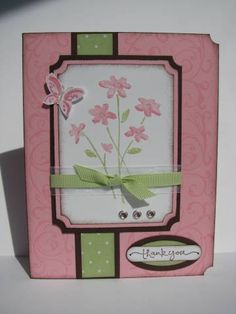 thank you using Stampin Up Close as a Memory