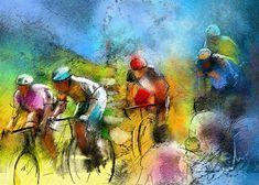 Le Tour De France 01 Bis Painting by Miki De Goodaboom