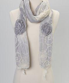 White Lace Scarf by Treska
