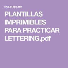 PLANTILLAS IMPRIMIBLES PARA PRACTICAR LETTERING.pdf Tattoo Lettering Fonts, Lettering Styles, Graffiti Lettering, Brush Lettering, Typography, Display Lettering, Creative Lettering, Hand Lettering For Beginners, Script Alphabet