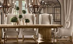 RH's Rectangular Table Collections:At Restoration Hardware, you'll explore an exceptional world of high quality unique dining room furniture. Browse our selection of dining room furniture sets & more at Restoration Hardware. Dining Room Table Chairs, Dining Room Sets, Dining Room Design, Kitchen Tables, Architectural Columns, Restoration Hardware Dining Chairs, Extension Dining Table, Home Furnishings, Home Decor
