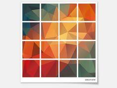Designfolie Polygon für dein Kallax 16 Türelemente