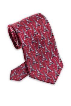 Eiffel Tower – Men's Silk Necktie  http://www.yourneckties.com/eiffel-tower-mens-silk-necktie-2/