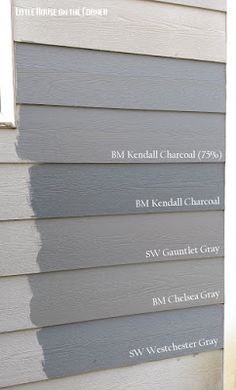 Home Exterior Painting Decisions: A Gray Area (Part V) {via Little House on the Corner}