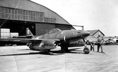 Captured Messerschmitt Me-262, date and location unknown.  After the end of the war, the Me 262 and other advanced German technologies were quickly swept up by the Americans (as part of the USAAF's Operation Lusty), British, and Soviets. Many Me 262s were found in readily-repairable condition and were confiscated. Both the Soviets and Americans desired the technology to serve as a basis for their own jet fighters.
