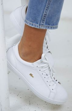 factory authentic 7f5e8 cf261 ˏˋ oliviakwilsonnˎˊ White Shoes, White Leather Tennis Shoes, Lacoste Shoes  Women, Lacoste