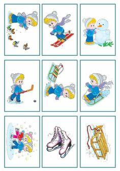 Paper Flowers Craft, Crafts For Kids To Make, Winter Sports, Teaching English, Four Seasons, Ski, Activities For Kids, Kindergarten, Preschool