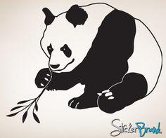 Vinyl Wall Decal Asian Panda #771 | Stickerbrand wall art decals, wall graphics and wall murals.