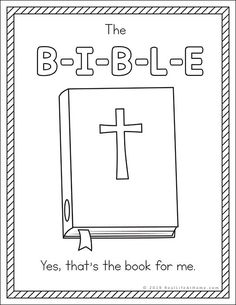 If you are working on learning the Bible Song, your kids may love these B-I-B-L-E Song coloring pages that feature The B-I-B-L-E Song lyrics. Bible Songs For Kids, Bible Crafts For Kids, Bible Lessons For Kids, Childrens Bible Songs, Primary Lessons, Bible School Crafts, Preschool Bible, Bible Activities, Bible Games
