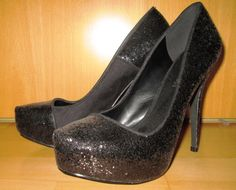 * * * RICH & FAMOUS Glitter-Pumps schwarz, Gr.38 * * * Peep Toe, Glitter, Ebay, Heels, Fashion, Clothing Accessories, Ladies Shoes, Glitter Pumps, Heel
