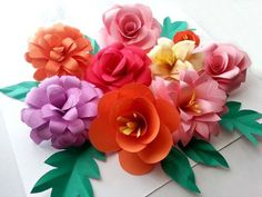 Get ready for spring by making these Beautiful Bohemian DIY Paper Flowers. <3