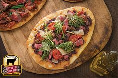 Mediterranean Steak Flatbread: Taste the difference. There's Angus. Then there's the Certified Angus Beef ® brand.
