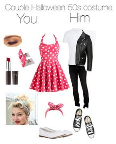 50s halloween couple costume by missy522 liked on polyvore featuring repetto boots