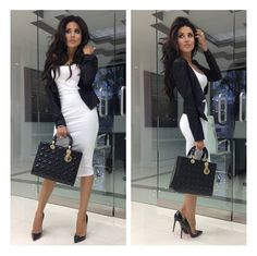 Leyla Milani in a chic outfit for the office. Love it!