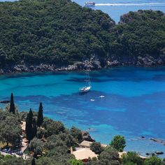 """With sandy beaches and hidden grottos, it's no wonder #Paleokastritsa is considered as the """"Capri of Greece."""" Guide me in #Corfu https://guidemeingreece.tours/tour-region/corfu/ #tour #greece #travel #photography #art #cruise #sea #traveler #view #summer #guidemeingreece #guide #happy #life #island #boat #ship #bbctravel #beauty #greek #holidays #vacation #bbctravel #island #traveler. #corfutour"""