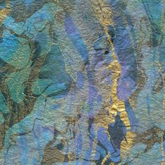 marbled paper | Marbled Momi Paper - Tsunami