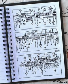 I always love the Zenspirations practice pages that Bonita does! Art Journal - Zenspirations Dangles 3 by Pink Palindrome, via Flickr