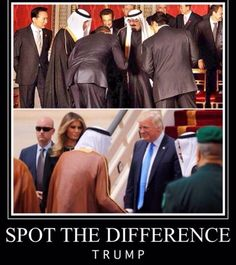 Obama bows to them- They bow to Trump-yeah