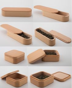 Bamboo Wooden Tea Leaves Box Case Jewelry Storage Box Case Pen Pencil Holder Case Box Paper Clip Holder Collection Office Desk Stationery Organizer