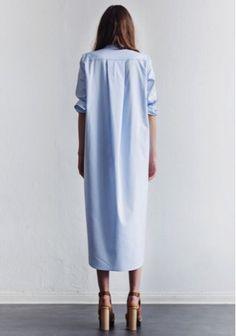 Must-Have: Light Blue Maxi Shirtdress (Le Fashion) - Fashion Trends Looks Street Style, Looks Style, Style Me, Fashion Week, Look Fashion, Fashion 2015, Dress Fashion, Fashion Trends, Estilo Hippie