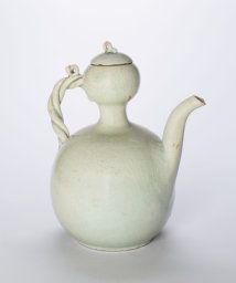 Korea, Gourd-Shaped Ewer with Twisted Handle, Goryeo dynasty (918-1392), mid-12th century