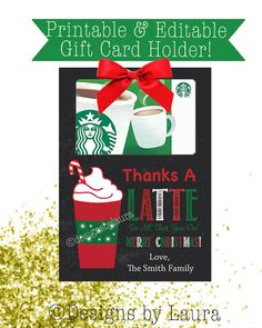 Thanks A Latte For All That You Do/Merry by DesignsbyLauraonEtsy