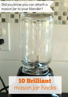 Did you know that the thread of a standard-size mason jar is the same as most blender attachments? When home blenders were first made many of them noted this in the instruction manual. Check out the other 9 brilliant mason jar hacks #masonjar #ad
