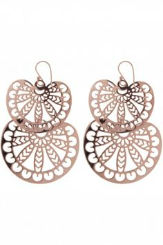 aurora I rose gold plated earrings I designed for NEW ONE I NEWONE-SHOP.COM