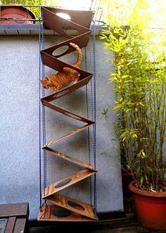 Escalera para gatos, extensible y desmontable