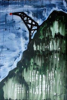 Broken Radio Tower (acrylic painting) - Laura converse