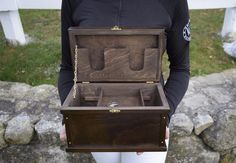 The perfect little box for jewelry, letters, ribbons, and other keepsake items. Made to look just like the Deluxe show trunks. Equestrian Jewelry, Equestrian Gifts, Equestrian Style, Horse Gifts, Gifts For Horse Lovers, My Horse, Horses, Tack Box, Tack Trunk